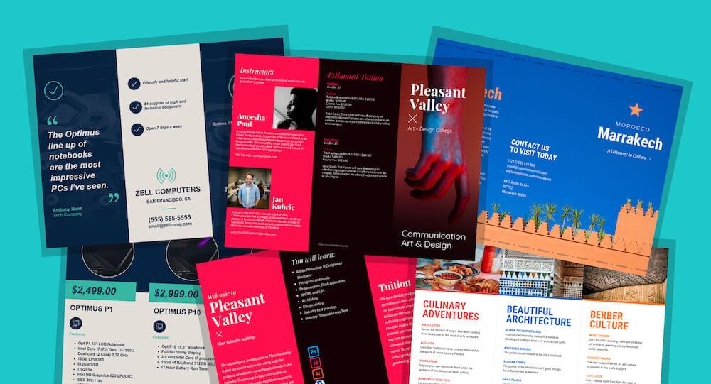 modelos de panfletos