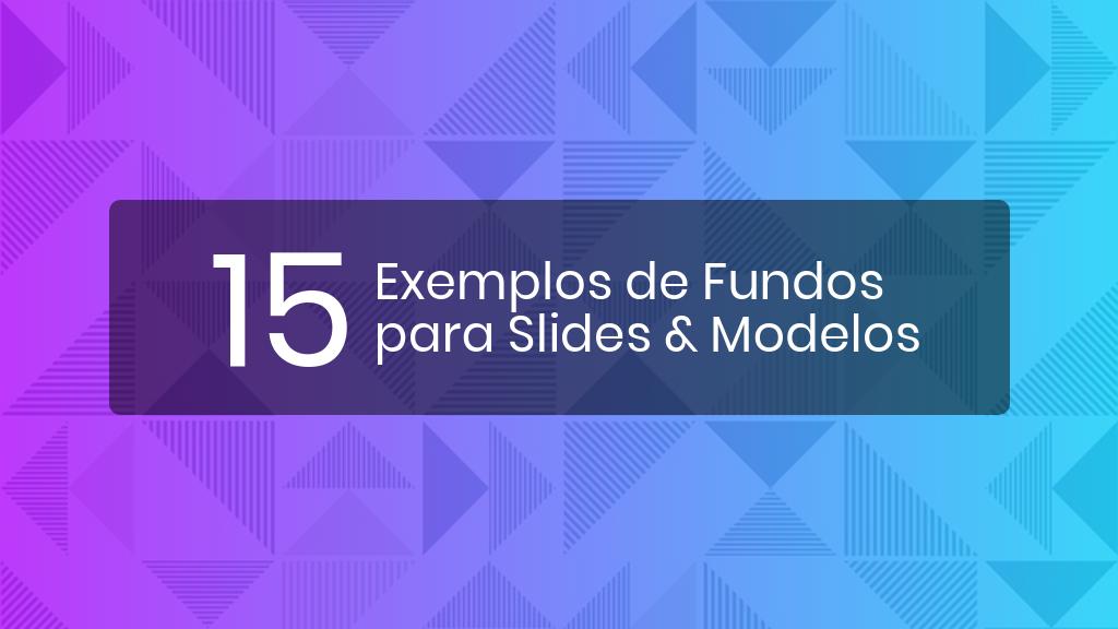 Exemplos de fundos para slides header