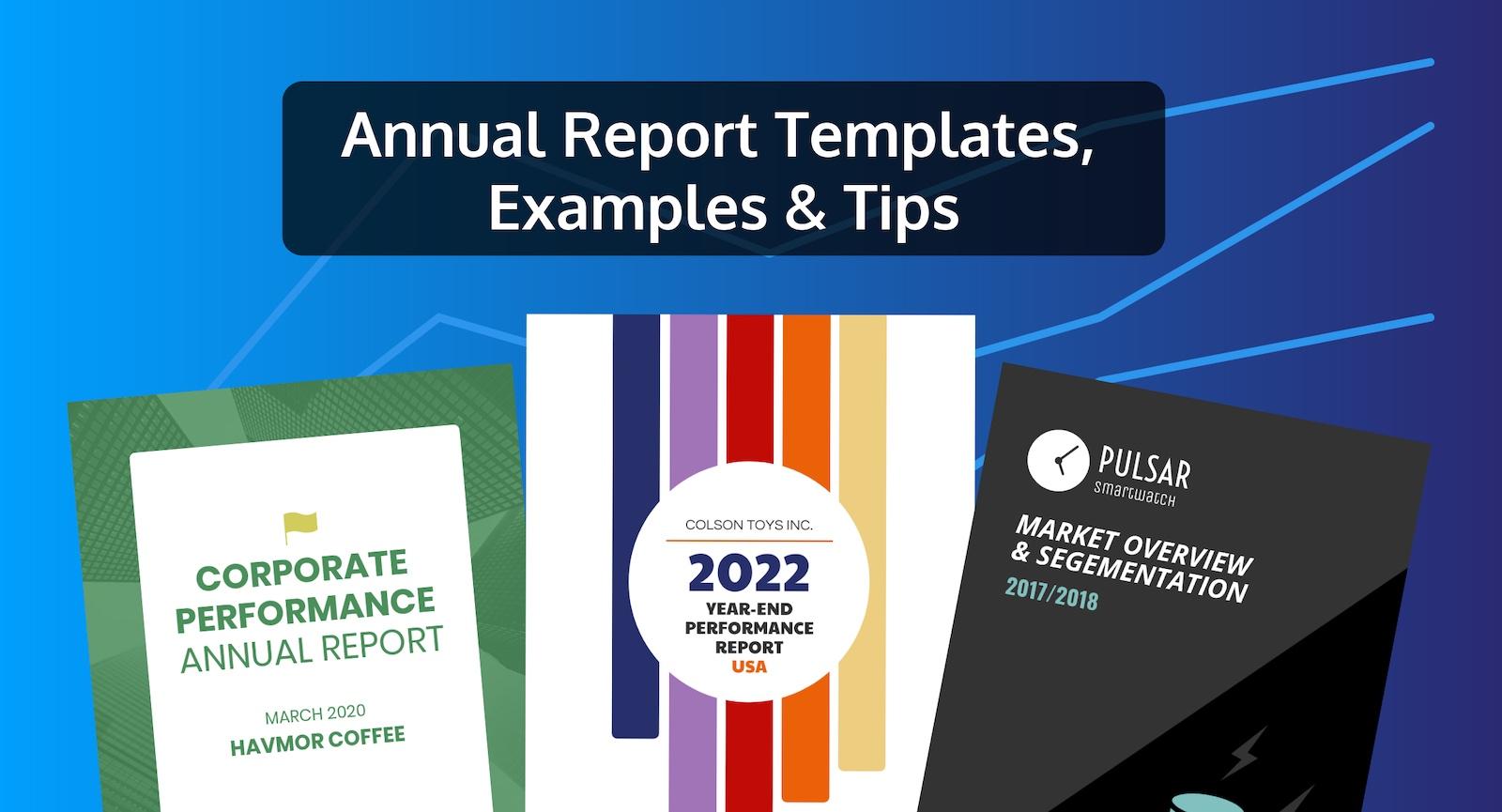 50 modelos customizáveis de design de relatório anual, exemplos e dicas