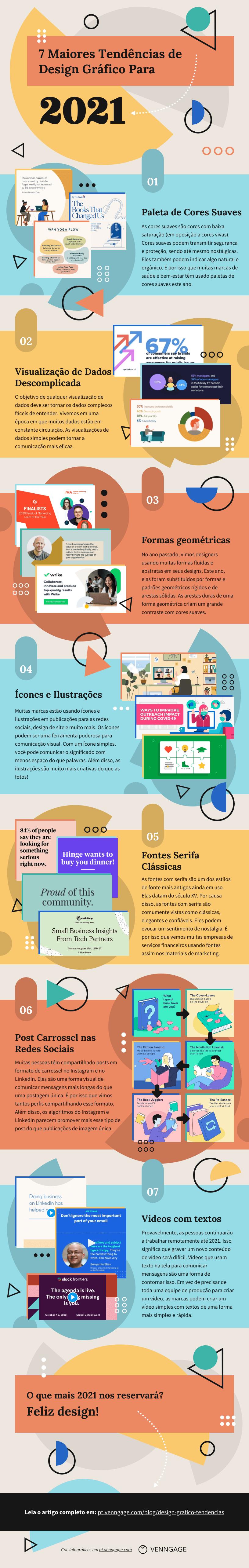 tendências de design gráfico infografico